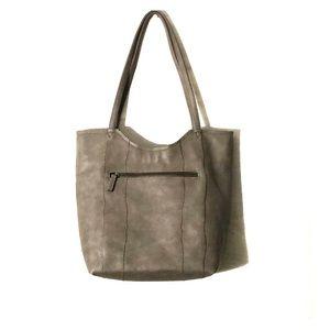 SONDRA ROBERTS BAG TAUPE GREY Vegan Leather NEW